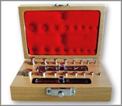 Stainless Steel Metric and Apothecary Weight Set. MODEL TS-121